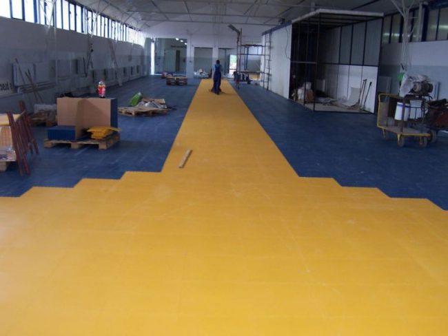 Резиновое покрытие для промышленных помещений