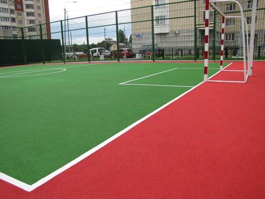 Резиновое покрытие для футбольного поля