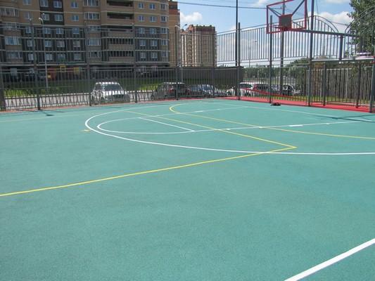 Резиновое покрытие для баскетбольной площадки