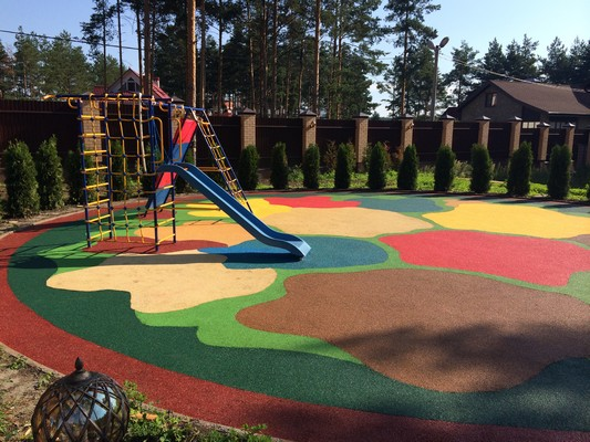 Резиновая крошка для детской площадки