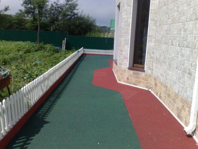 Резиновое покрытие для открытых террас